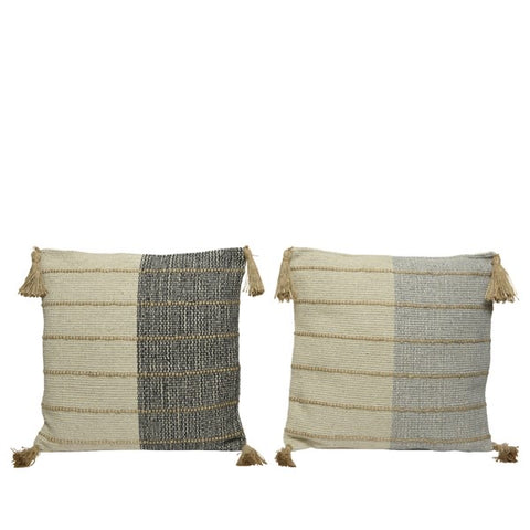 Cotton Cushion with Tassel