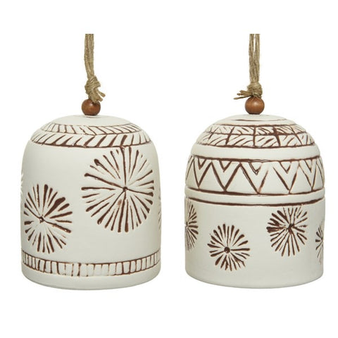 Matt White Porcelain Hanging Bell