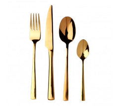 Gold Finish Cutlery 16 Piece Set