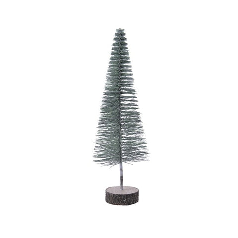 Small Green Glitter Tree Decoration