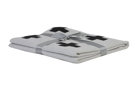 Monochrome Cross Cotton Blanket