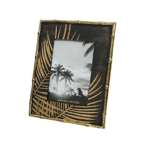 5x7 Black & Gold Tropical Photo Frame