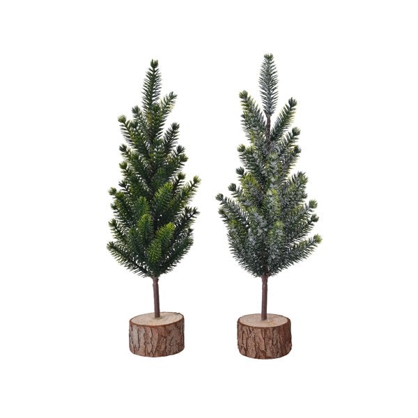 Mini Pine Tree on Wood Stand