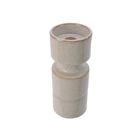 Tall White Stone Candle Holder