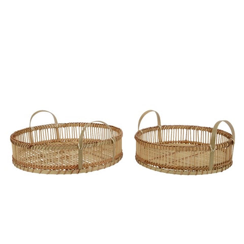 Round Bamboo Serving Tray