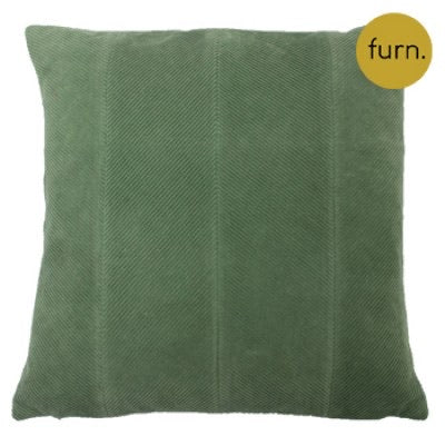 Sage Green Chevron Corduroy Cushion