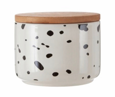 Small Speckled Storage Canister Jar
