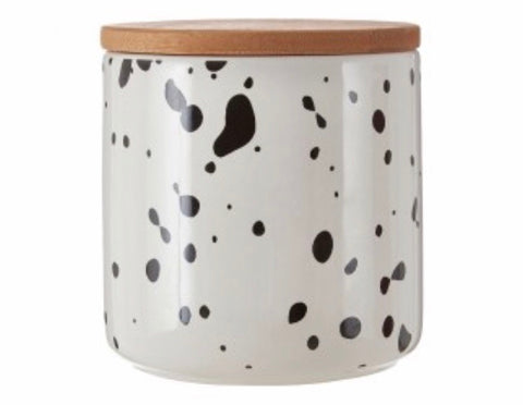 Medium Speckled Storage Canister Jar