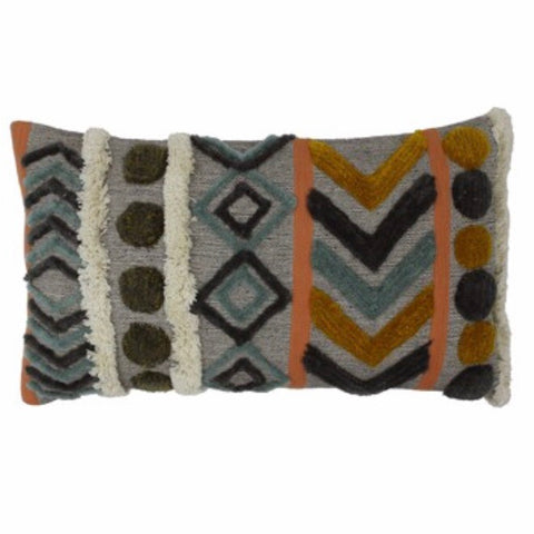 Fluffy Tuft Aztec Rectangle Cushion