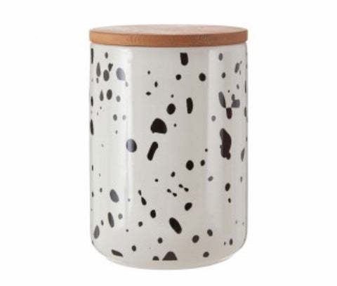 Large Speckled Storage Canister Jar