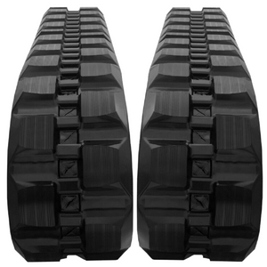 "2 Rubber Tracks Fits Mustang 2100RT 450X86X56 18"" Wide Block Tread"