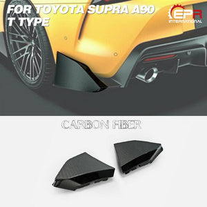 TRD Style Carbon Fiber Rear Spat Kit For Toyota 2020 Supra A90 T Type L & R Diffuser