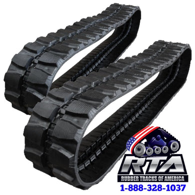 2 Rubber Tracks - Fits Kobelco SK45SR-2 400X72.5X72 Free Shipping