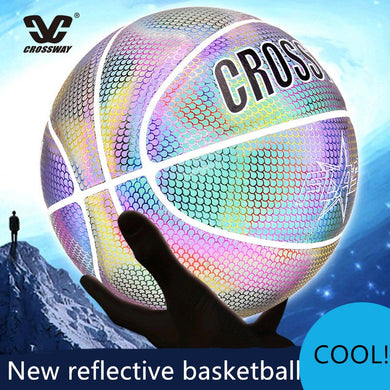 CROSSWAY New Reflective Basketball Ball 7 Night Equipment Cool Basketball Indoor Outdoor