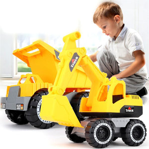 Tractor Simulation Toy Excavator Model Dump Truck Wheel Loader Baby