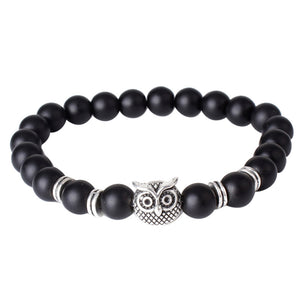 Top Natural White Howlite Stone Gold Silver Buddha Men's Beaded Lucky Bracelet