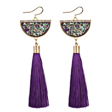 Vintage Women Bohemian Earrings Long Tassel Fringe Dangle Earrings  Jewelry