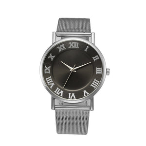 Womens Fashion Classic Quartz Stainless Steel Wrist Watch