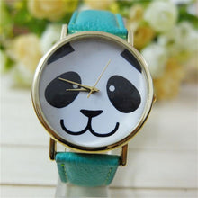Faux Leather Band Watch Fashion Panda Quartz Wrist Women Watch