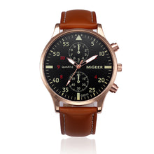 Retro Design Leather Band Analog Alloy Quartz Wrist Watch