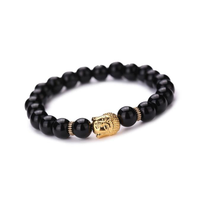 Women Men Bracelet Buddha Elastic Beaded Bracelet Chain Charm Bracelets Jewelry
