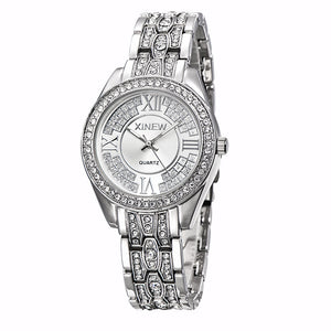 Fashion Women Ladies Girl Stainless Steel Band Analog Quartz Wrist Watch