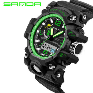 Sport Watch Camouflage Double Display Cold Light Electronic Waterproof Mens