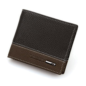Mens Leather Bifold Money Card Holder Wallet Coin Purse Clutch Pockets
