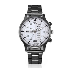 Fashion Man Crystal Stainless Steel Analog Quartz Wrist Watch