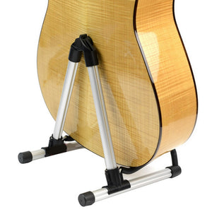 TSAI Foldable A-Frame Electric Guitar Floor Stand Holder Acoustic Electric Bass