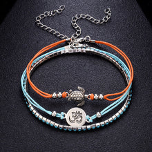 1PC Bohemia Tortoise Anklets Bracelets for Women Rope Beach Anklet Jewelry