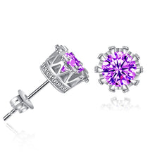 Simple Fashion Diamond Crown Earring Stud Earrings Women Jewelry