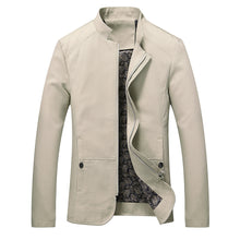 Men's Autumn Winter Casual Long Sleeve Solid Stand Zipper Jacket Top Blouse