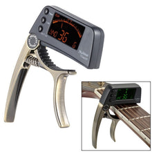 TCapo20 Acoustic Guitar Capo Quick Change Key Guitar Capo Tuner for Electric Guitar Parts Bass Ukulele Chromatic Alloy