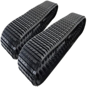 "2 Rubber Tracks Fits CAT 267 267B 277 277B 18X4X56 18"" Wide Straight Bar Tread"