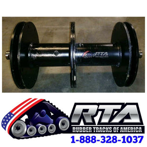"14"" Idler Axle Group Without Wheels Fits - Terex PT100 & PT100 Forestry"