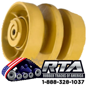 One Middle Bottom Roller Fits CAT 299C 299D 299D2-XHP 299D2