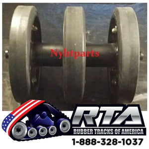 "14"" Idler Group with DuroForce Rubber Wheels Fits ASV 2800 2810 4810"