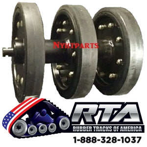 "14"" Idler Group with DuroForce Rubber Wheels Fits - CAT 267 267B 277 277B Free Shipping"