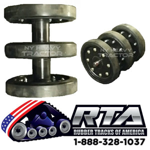 "14"" Idler Group with DuroForce Rubber Wheels Fits CAT 287 287B"