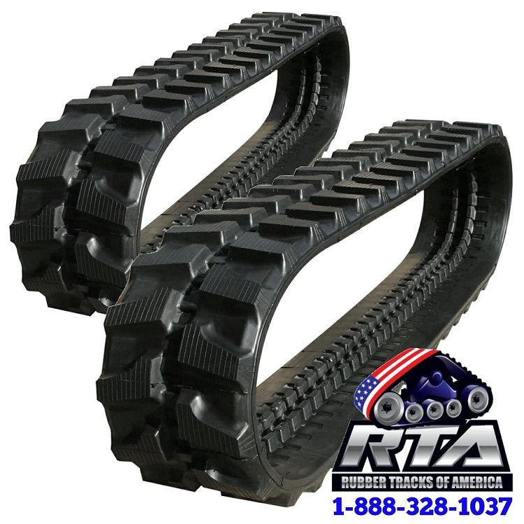 2 Rubber Tracks - Fits Kobelco SK035-2E 350X52.5X86 Free Shipping