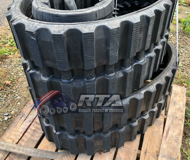 2 Rubber Tracks Fits Gehl CTL80 CTL85 450X100X50 Straight Bar Tread 18