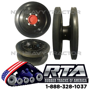 "15"" Rubber Idler Group Fits CAT 297C 297D 297D2"