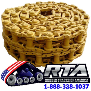 Two 37 Link Dry Track Chains - Fits Komatsu D38E-1 Dozer IN3454/37 Free Shipping