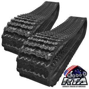 "2 Rubber Tracks Fits John Deere CT333D 333D 450X86X56 18"" Wide Zig Zag"