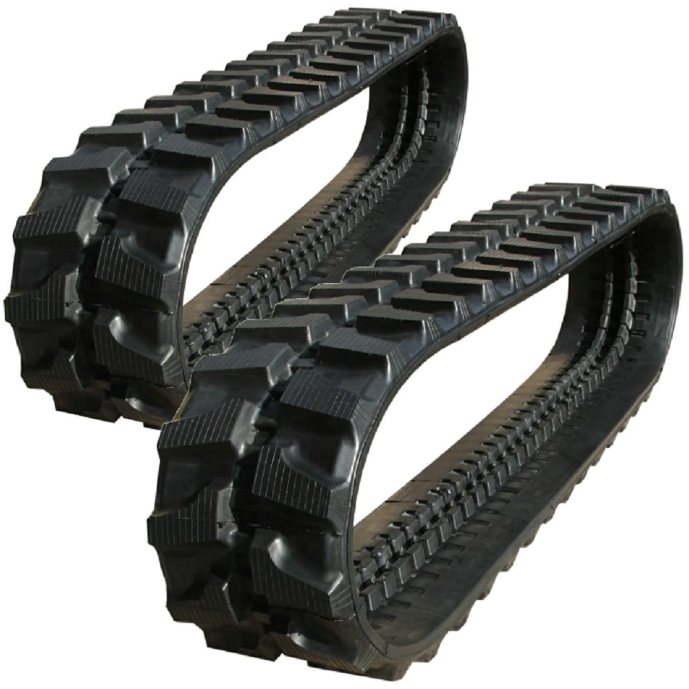 2 Rubber Tracks Fits Case CK25 300X52.5X76