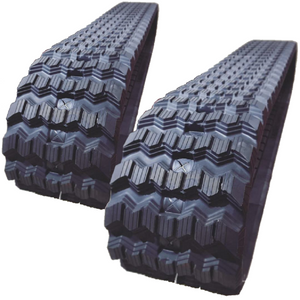 "2 Rubber Tracks Fits JCB T180 450X86X52 ( 18"" ) Zig Zag Tread"