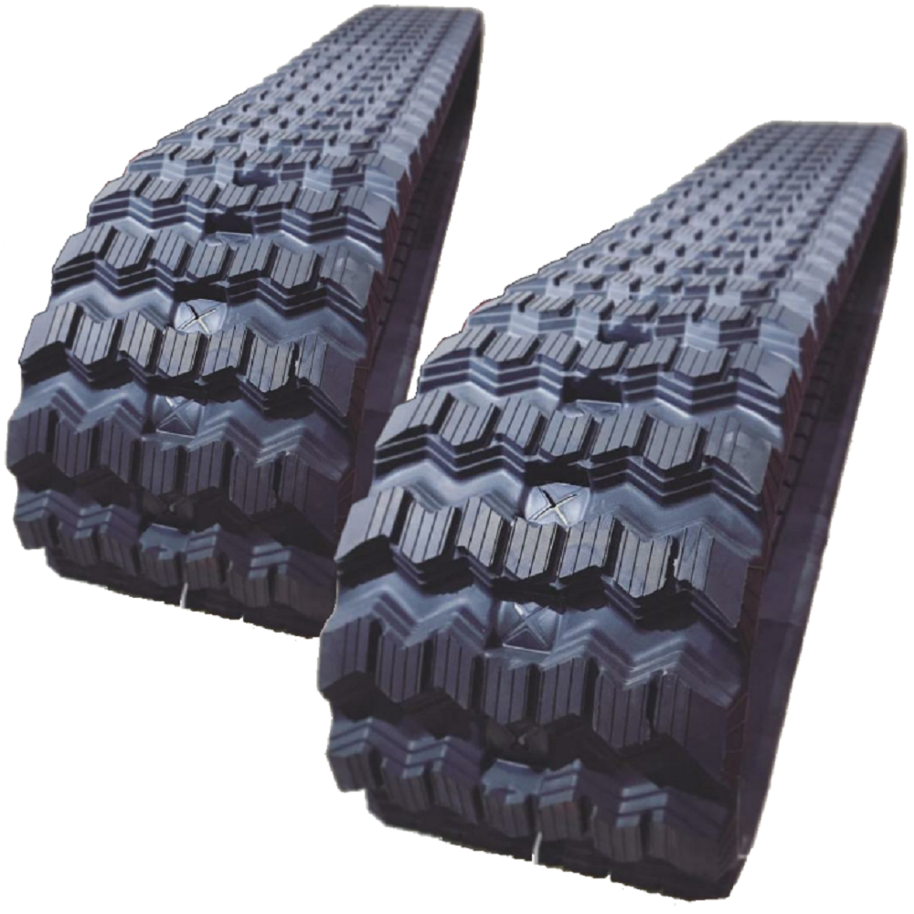 2 Rubber Tracks Fits John Deere 8875 with Loegering VTS 450X86X60 Zig Zag Tread 18