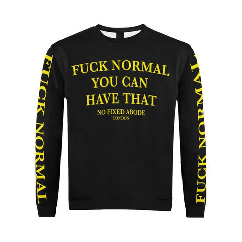 Fuck Normal Mens Crewneck Sweatshirt