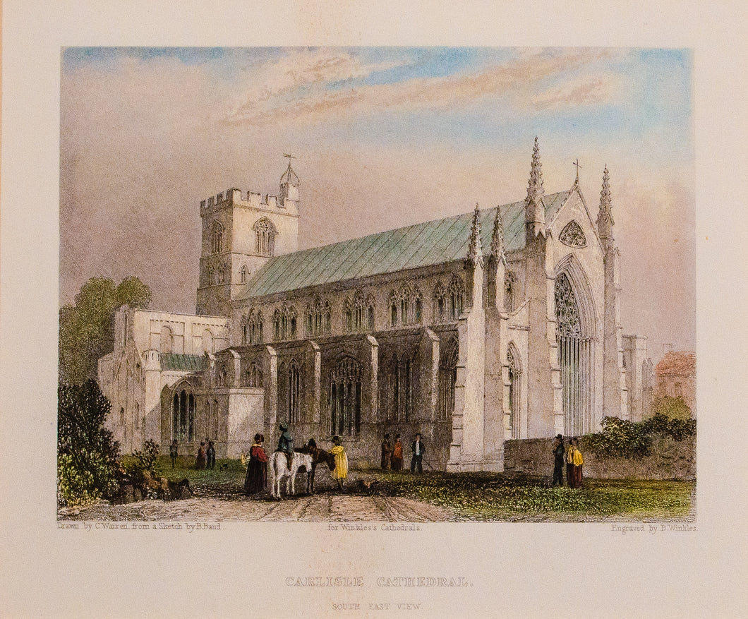 Carlisle Cathedral - Antique Steel Engraving circa 1842